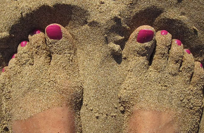 Summerproof voeten met gellak